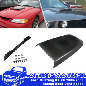 For 05 09 Ford Mustang V6 Gt Abs Front Center Air Hood Scoop Vent Paint Painted