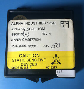 Sc9001om Alpha Industries Capacitor Chip Rf Microwave 50 units
