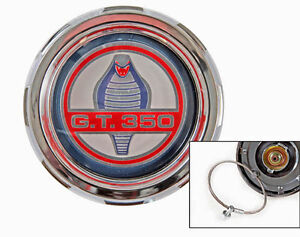 New 1965 1973 Mustang Shelby Gt350 Gas Cap Chrome Twist On With Cable By Drake