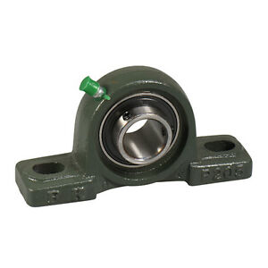 Ucp206 18 1 1 8 Pillow Block Bearing Unit With Solid Base Cast Iron Housing
