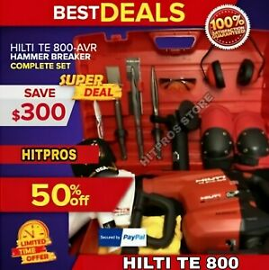Hilti Te 800 Avr New Free Grinder Chisels A Lot Of Extra Items Fast Ship