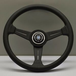 Nardi Classic Steering Wheel 340 Mm Black Perforated Leather With Grey Stitching