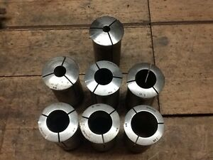Hardinge 215 Collets Set Of 7 Nice Shape