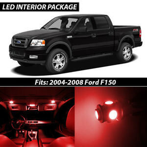 2004 2008 Ford F150 Red Interior Led Lights Package Kit