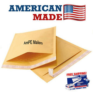 Ampe 100 2 8 5x11 Kraft Bubble Mailers Padded Envelopes Mailer