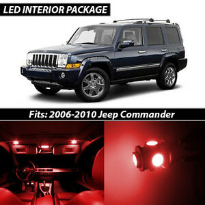 2006 2010 Jeep Commander Red Interior Led Lights Package Kit