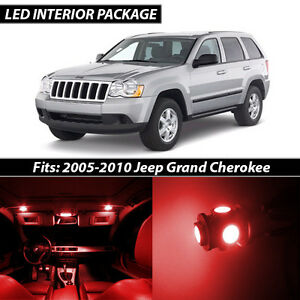 2005 2010 Jeep Grand Cherokee Red Interior Led Lights Package Kit