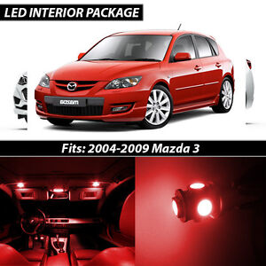 2004 2009 Mazda 3 Red Interior Led Lights Package Kit Mazdaspeed 3
