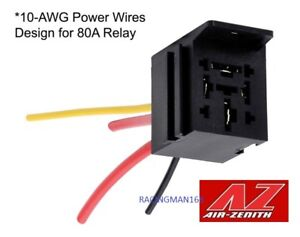 Air Zenith Az85219b Pre Wired 80a Relay Socket Only