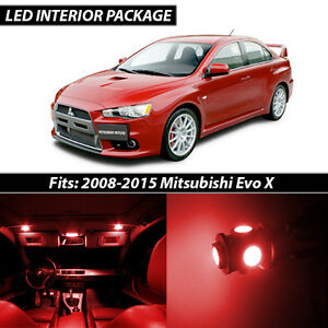 2008 2015 Mitsubishi Lancer Evolution X Red Interior Led Lights Package Kit