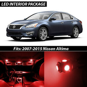 Red Interior Led Lights Package Kit For 2007 2015 Nissan Altima