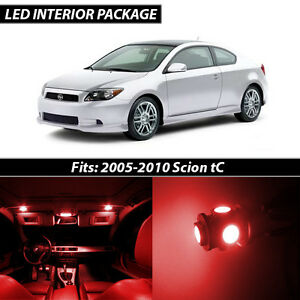 2005 2010 Scion Tc Red Interior Led Lights Package Kit