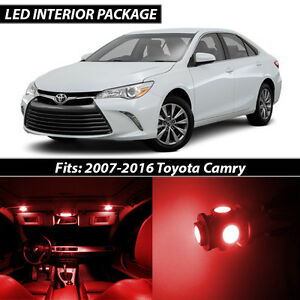 2007 2016 Toyota Camry Red Interior Led Lights Package Kit