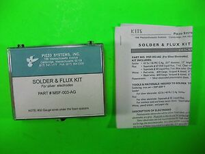 Piezo Systems Solder X Flex Kit For Silver Electrode Msf 003 ag New