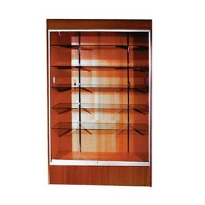 Trophy Case Glass Display Case 48 Long X 78 Tall Cherry wc4che