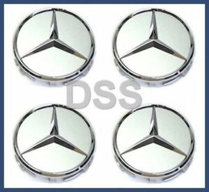 Genuine Mercedes Wheel Center Hub Cap Set Cover X4 Oem B66470202
