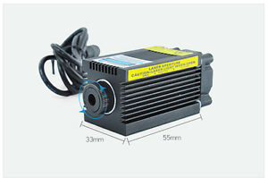 Adjustable 1 6w High Power Blue Engraving Laser Module 12v Focusable 450nm