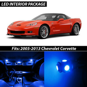 2005 2013 Chevrolet Corvette Blue Interior Led Lights Package Kit