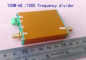 100m 6g 10000 Microwave Frequency Divider For Measurement Test signal Source