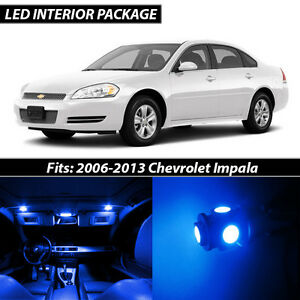 2006 2013 Chevrolet Impala Blue Interior Led Lights Package Kit
