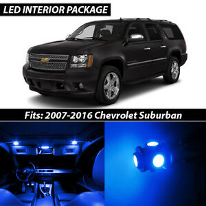 2007 2016 Chevrolet Suburban Blue Interior Led Lights Package Kit