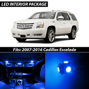 2007 2016 Cadillac Escalade Blue Interior Led Lights Package Kit