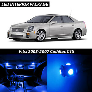 2003 2007 Cadillac Cts Blue Interior Led Lights Package Kit