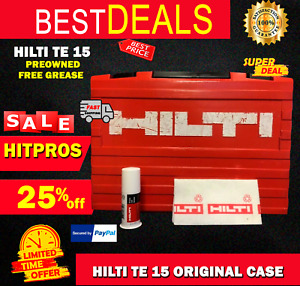 Hilti Te 15 only Case Original Preowned Strong Free Hilti Grease Fast Ship