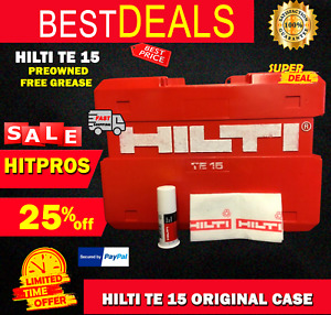 Hilti Te 15 only Case Preowned Free Hilti Grease Fast Ship