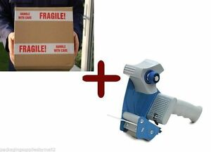 24 Rolls Fragile Shipping Tape 3 110 Yds 2 Mil 1 Free 3 Tape Gun Dispenser