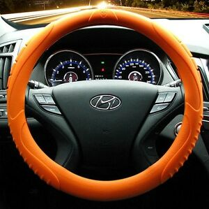 Masada Premium Silicone Orange Car Steering Wheel Cover fits To All Cars
