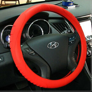Masada Ionized Silicone Car Steering Wheel Cover red fits To All Cars