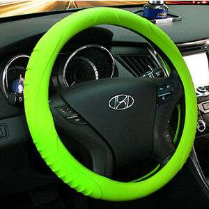 Ionized Masada Silicone Car Steering Wheel Cover green fits To All Cars