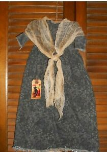 Prim Wall Dress W Hanger Primitive Decor Old Witch Hag Halloween Grungy