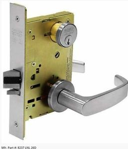 Sargent Storeroom Function Mortise Lock 7904 Ln Nd Wbs 626 Lhr less Cylinder