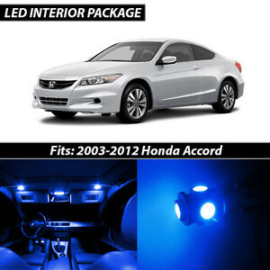 2003 2012 Honda Accord Blue Interior Led Lights Package Kit
