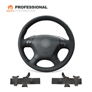 Top Design Black Genuine Leather Steering Wheel Cover For Honda Accord 7 Odyssey