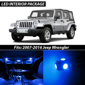 2007 2016 Jeep Wrangler Blue Interior Led Lights Package Kit