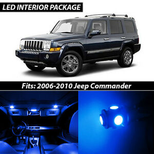 2006 2010 Jeep Commander Blue Interior Led Lights Package Kit
