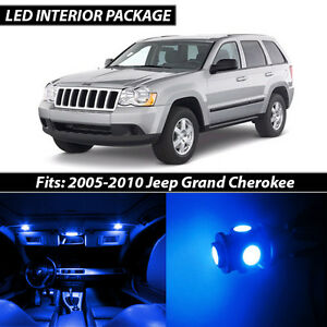 2005 2010 Jeep Grand Cherokee Blue Interior Led Lights Package Kit