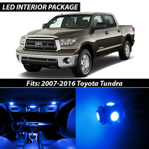 2007 2016 Toyota Tundra Blue Interior Led Lights Package Kit