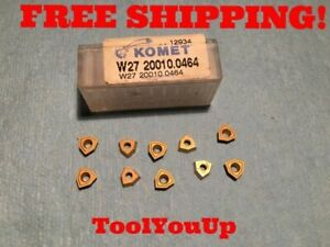 10pcs New Komet W27 20010 0464 Carbide Inserts Cnc Tooling Machine Shop Tools