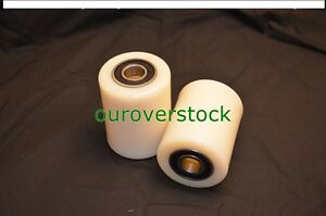 A Pair Of Brand New Pallet Jack Nylon Load Wheels With Bearings