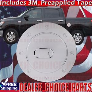 For 2007 2019 Toyota Tundra Triple Chrome Abs Gas Door Cover Fuel Cap Overlay