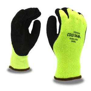 Cordova 3999 Cold Snap Gloves 7 Gauge Thermal Liner Rough Latex Grip M xl
