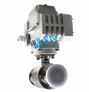 Motorized Electric Actuated Ball Valve Ac220v 1 Stainless Steel 304 Tri Clamp