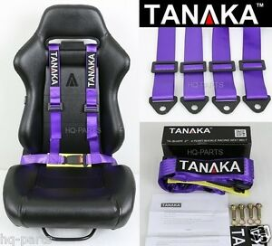 1 Tanaka Universal Purple 4 Point Buckle Racing Seat Belt Harness