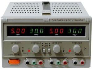 Dc Power Supply Variable Triple Output 0 30v 5a Led Display Model Hy3005f 3