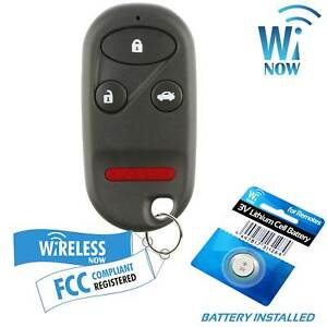 Car Key Fob Keyless Entry Remote 4btn For 2000 2001 Honda Accord