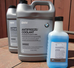 Free Windshield Washer With 2 Gallons Bmw Oem Antifreeze Coolant 82141467704